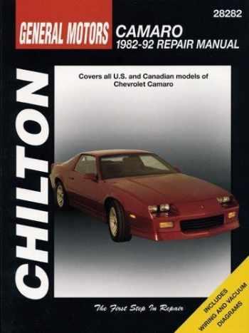 9780801982606-080198260X-GM Camaro, 1982-92 (Chilton Total Car Care Series Manuals)