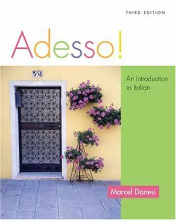 9781413003512-1413003516-Adesso!: An Introduction to Italian (with Audio CD)