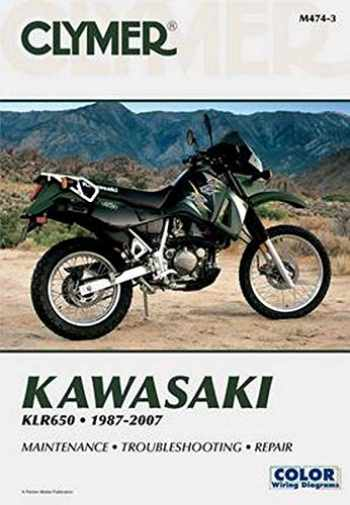 9781599692258-1599692252-Kawasaki KLR650 1987-2007 (Clymer Color Wiring Diagrams)