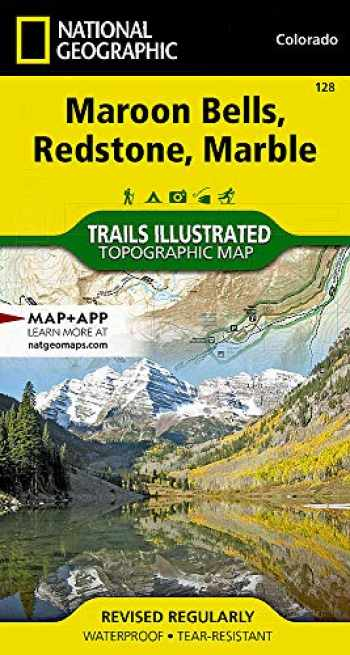 9781566952484-1566952484-Maroon Bells, Redstone, Marble (National Geographic Trails Illustrated Map, 128)