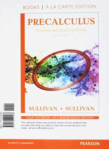 9780134120188-0134120183-Precalculus Enhanced with Graphing Utilities, Books A La Carte Edition
