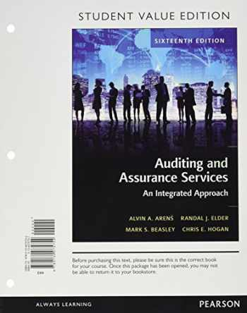 9780134075754-0134075757-Auditing and Assurance Services, Student Value Edition (16th Edition)