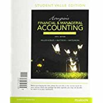 9780134078939-0134078934-Horngren's Financial & Managerial Accounting, The Financial Chapters (Book & Access Card)