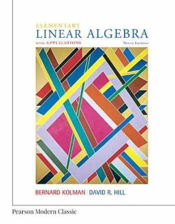 9780134718538-0134718534-Elementary Linear Algebra with Applications (Classic Version) (Pearson Modern Classics for Advanced Mathematics Series)