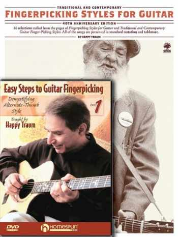 9781423496885-1423496884-Happy Traum Fingerpicking Pack: Includes Fingerpicking Styles for Guitar book and Easy Steps to Fingerpicking Guitar DVD