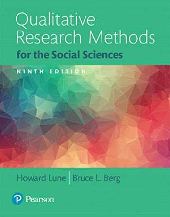 9780134202136-0134202139-Qualitative Research Methods for the Social Sciences, Books a la Carte (9th Edition)