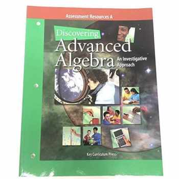 9781559536103-1559536101-Discovering Advanced Algebra Assessment Resources A