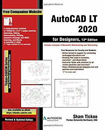 9781640570665-1640570667-AutoCAD LT 2020 for Designers, 13th Edition