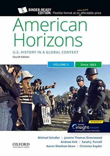 9780197531228-0197531229-American Horizons: US History in a Global Context, Volume Two: Since 1865