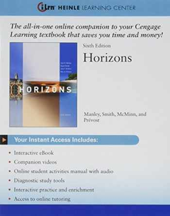 9781305136199-1305136195-Bundle: Horizons, 6th + iLrn Heinle Learning Center Printed Access Card