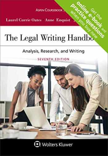 9781454895282-1454895284-The Legal Writing Handbook: Analysis, Research, and Writing (Aspen Coursebook)