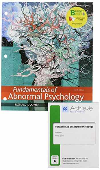 9781319251291-1319251293-Loose-Leaf Version for Fundamentals of Abnormal Psychology & Achieve Read & Practice for Fundamentals of Abnormal Psychology (Six-Months Access)