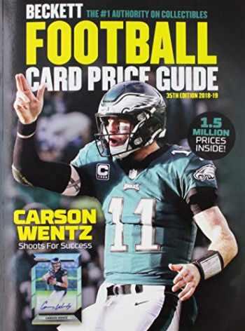 9781936681167-1936681161-Beckett Football Card Price Guide 2018