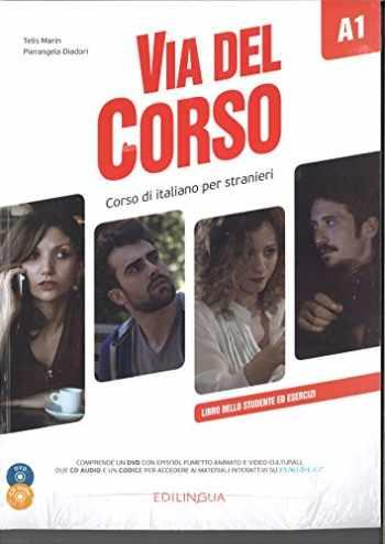 9788898433636-8898433638-Via del Corso: Libro dello studente ed esercizi + CD audio (2) + DVD video A1