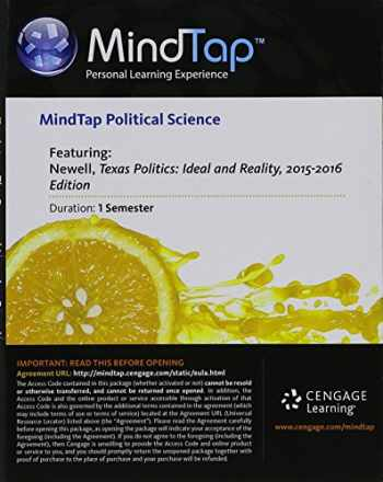 9781285861128-1285861124-MindTap Political Science, 1 term (6 months) Printed Access Card for Newell/Prindle/Riddlesperger's Texas Politics 2015-2016