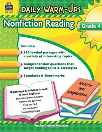 9781420650341-1420650343-Teacher Created Resources Daily Warm-ups: Nonfiction Reading, Grade 4, 176 Pages (5034)