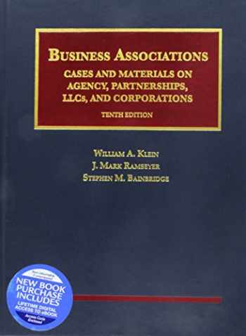 9781640204980-1640204989-Business Associations, Cases and Materials on Agency, Partnerships, LLCs, and Corporations - (University Casebook Series)