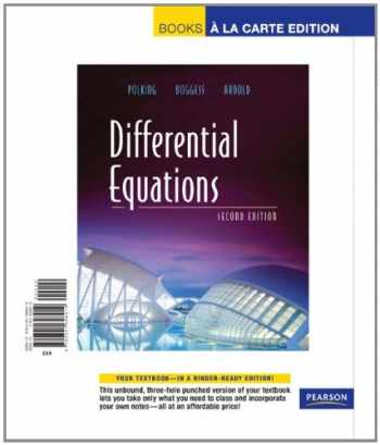 9780321698919-0321698916-Differential Equations, Books a la Carte Edition (2nd Edition)
