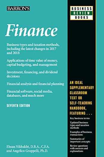 9781438010366-1438010362-Finance (Barron's Business Review)