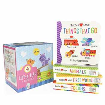9781680523393-1680523392-4 Pack Babies Love Learning Lift-a-Flap Boxed Set: First Words, Animals, Colors, and Things That Go (Chunky Lift a Flap)