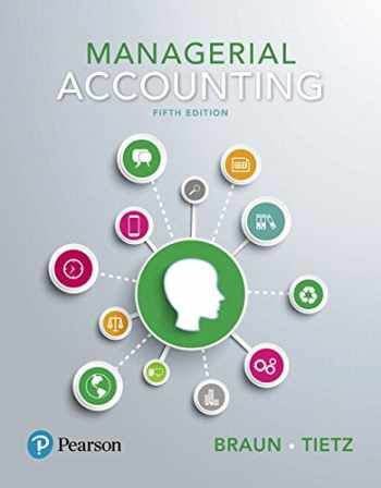 9780134641805-0134641809-Managerial Accounting Plus MyLab Accounting with Pearson eText -- Access Card Package (5th Edition)