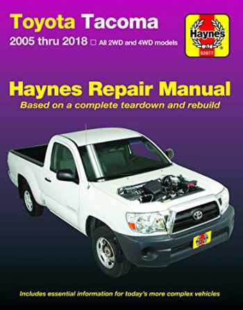 9781620923375-1620923378-Toyota Tacoma 2006 thru 2018 Haynes Repair Manual (Haynes Automotive)