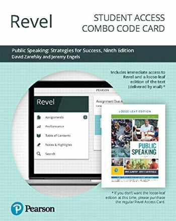 9780135255384-0135255384-Revel for Public Speaking: Strategies for Success -- Combo Access Card