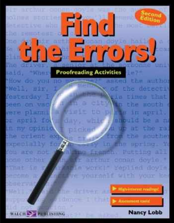 9780825137242-0825137241-Find the Errors!: Proofreading Activities (011588e5) (Walch Reproducible Books)