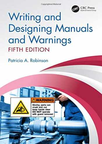 9780367111090-0367111098-Writing and Designing Manuals and Warnings, Fifth Edition