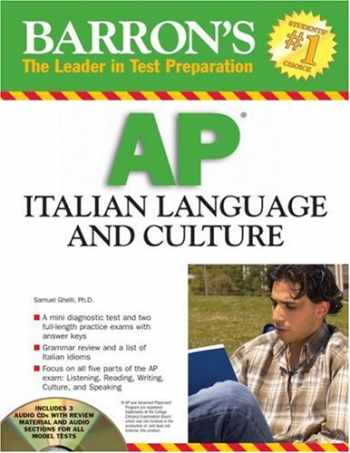 9780764193682-0764193686-Barron's AP Italian Language and Culture: with Audio CDs (Barron's The leader in Test Preparation)