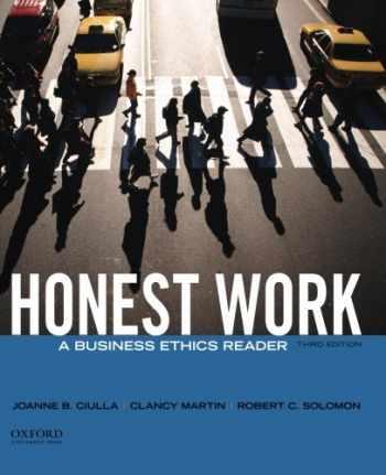 9780199944200-0199944202-Honest Work: A Business Ethics Reader