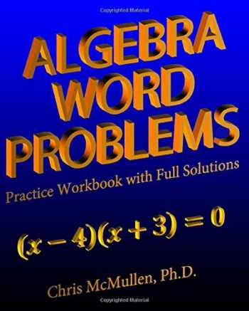 9781941691298-1941691293-Algebra Word Problems Practice Workbook with Full Solutions