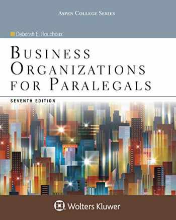9781454852209-1454852208-Business Organizations for Paralegals (Aspen College)