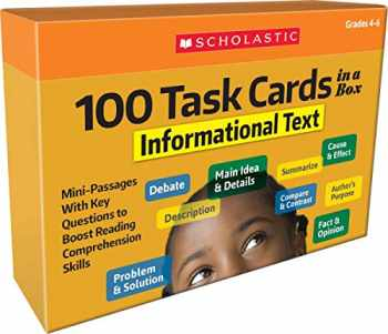 9781338552645-1338552643-100 Task Cards in a Box: Informational Text: Mini-Passages With Key Questions to Boost Reading Comprehension Skills