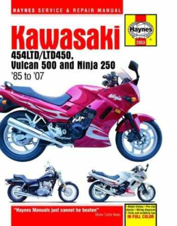 9781563926679-1563926679-Kawasaki 454LTD/LTD450, Vulcan 500 & Ninja 250, 1985 - 2007 (Motorcycle Repair Manual)