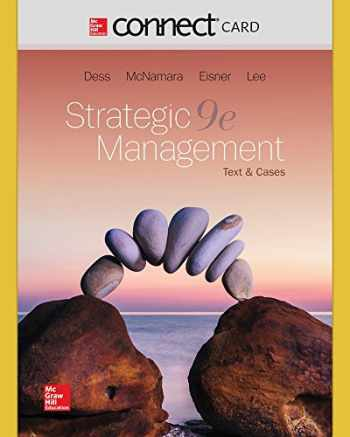 9781259900044-1259900045-Connect Access Code Card for Strategic Management: Text and Cases