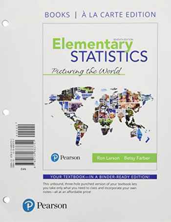 9780134685205-0134685202-Elementary Statistics: Picturing the World, Loose-Leaf Edition Plus MyLab Statistics with Pearson eText -- 24 Month Access Card Package (7th Edition)