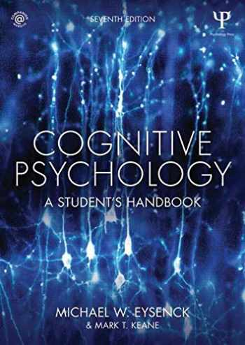 9781848724167-1848724160-Cognitive Psychology: A Student's Handbook