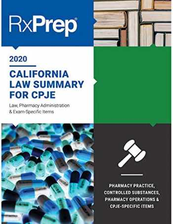 9780999192276-0999192272-RxPrep California Law Summary for CPJE