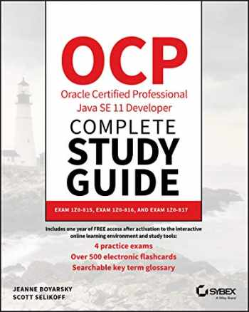 9781119619130-1119619130-OCP Oracle Certified Professional Java SE 11 Developer Complete Study Guide: Exam 1Z0-815, Exam 1Z0-816, and Exam 1Z0-817