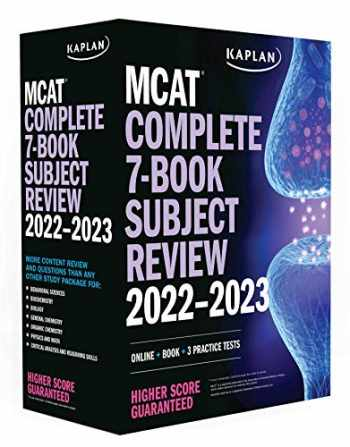 "9781506277424-150627742X-MCAT Complete 7-Book Subject Review 2022â€""2023: Online + Book + 3 Practice Tests (Kaplan Test Prep)"