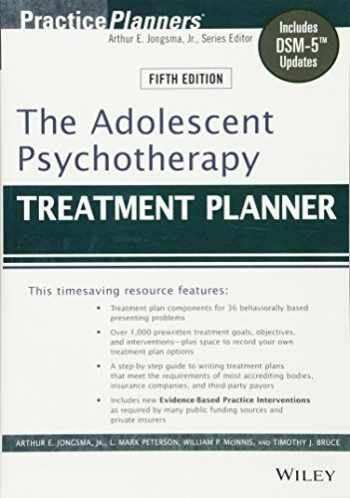 9781118067840-1118067843-The Adolescent Psychotherapy Treatment Planner: Includes DSM-5 Updates