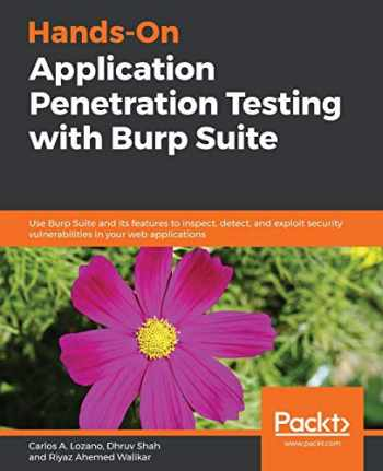 9781788994064-178899406X-Hands-On Application Penetration Testing with Burp Suite: Use Burp Suite and its features to inspect, detect, and exploit security vulnerabilities in your web applications