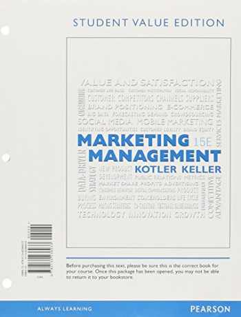 9780134236933-0134236939-Marketing Management, Student Value Edition (15th Edition)
