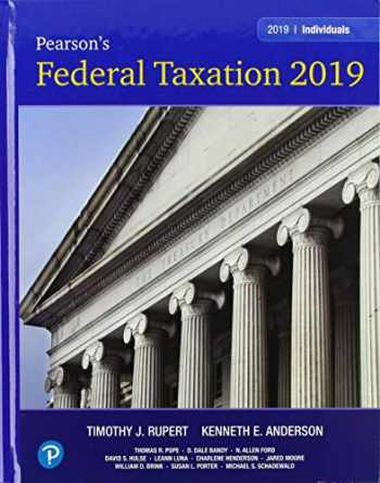 9780134739670-0134739671-Pearson's Federal Taxation 2019 Individuals