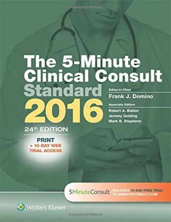 9781496308634-1496308638-The 5-Minute Clinical Consult Standard 2016: Print + 10-Day Web Trial Access (The 5-Minute Consult Series)