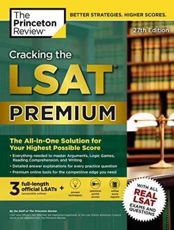 9780804126052-0804126054-Cracking the LSAT Premium with 3 Real Practice Tests, 27th Edition: The All-in-One Solution for Your Highest Possible Score (Graduate School Test Preparation)