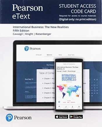 9780135636923-0135636922-Pearson eText for International Business: The New Realities -- Access Card