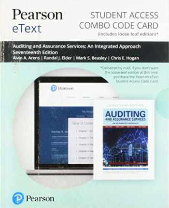 9780135635148-0135635144-Pearson eText for Auditing and Assurance Services -- Combo Card