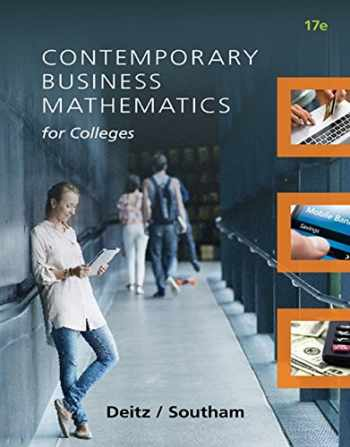 9781305506688-1305506685-Contemporary Business Mathematics for Colleges